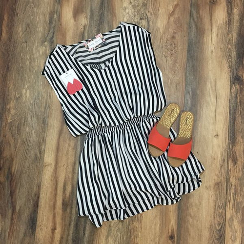 In Another World Striped Dress