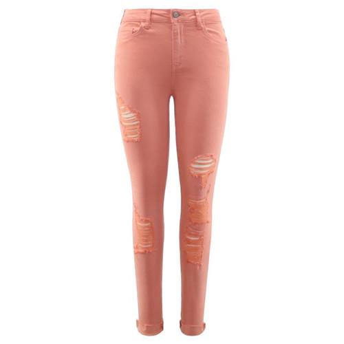Alana Distressed Skinny Jean | Color Tangerine | Original Denim