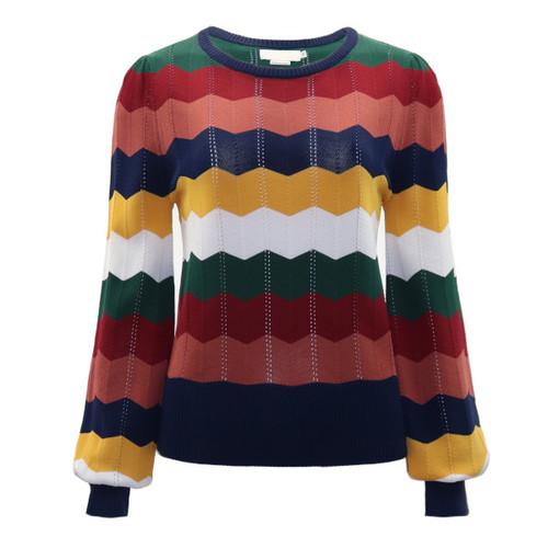 Chevron Knitted Sweater by Molly Bracken   Luxury Sweater