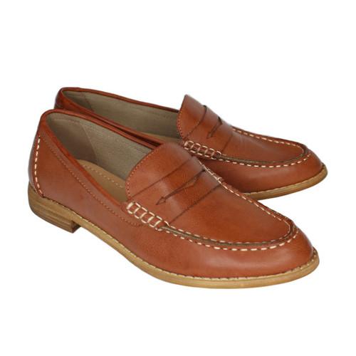 Eris Vintage Style Loafer - Brick