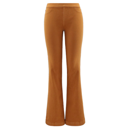 Featuring front faux pockets, elastic waistband, functional back pockets all in a gorgeous camel color.