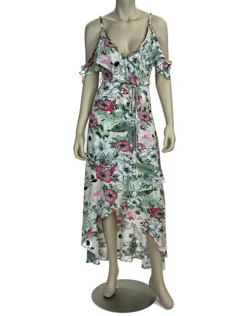 Magnolia Ruffled Wrap Dress
