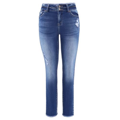 High-waist jeans.