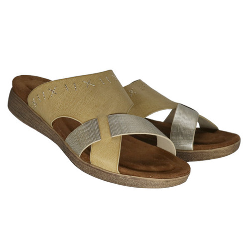 Kori Multi Tone Low Wedge Sandal