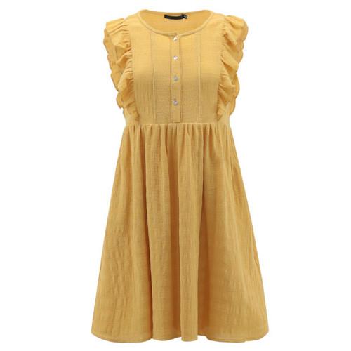 Yellow Ruffle Detail Dress