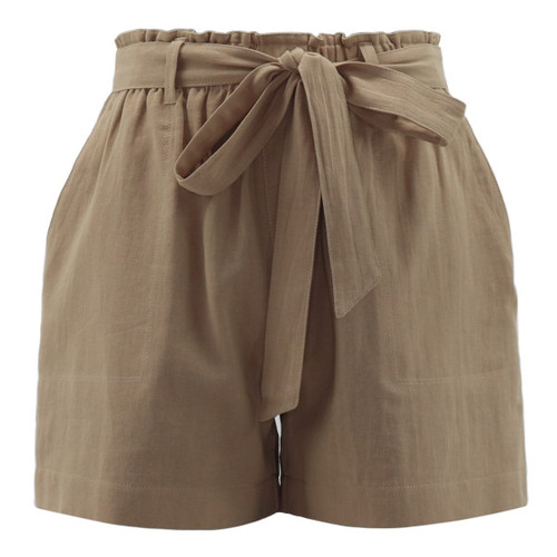 Trendy Threads Boutique - Taupe Washed Cotton Shorts