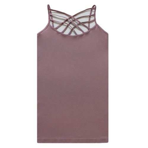 Criss Cross Cami - Color Dusty Lavender