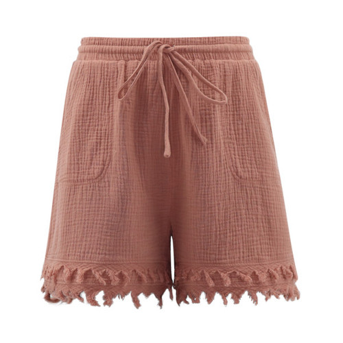 Mauve Cotton Shorts