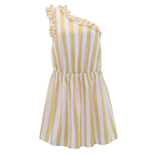 Striped Dress - Color Yellow
