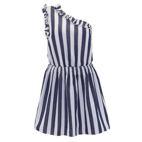 Striped Dress - Color Navy