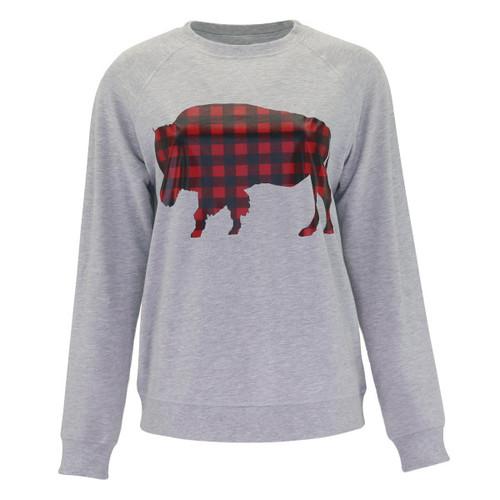 Buffalo Plaid French Terry Sweatshirt