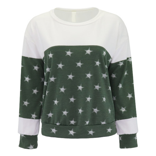 Out Of Nowhere Star Print Sweatshirt