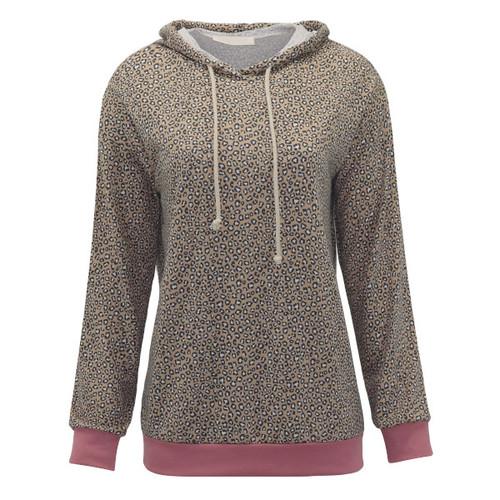 Make A Change Leopard Hooded Pullover