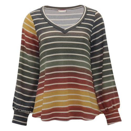 Stay On Track Striped Top