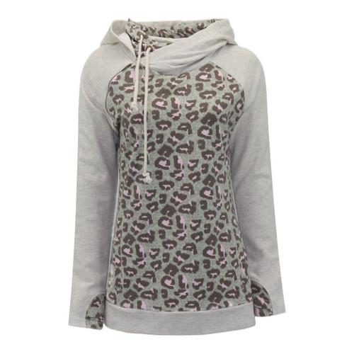 Love For Leopard Side-Zip Hooded Sweatshirt