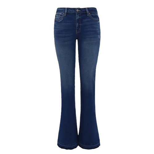 Macy Mid-Rise Flare Jeans by KanCan