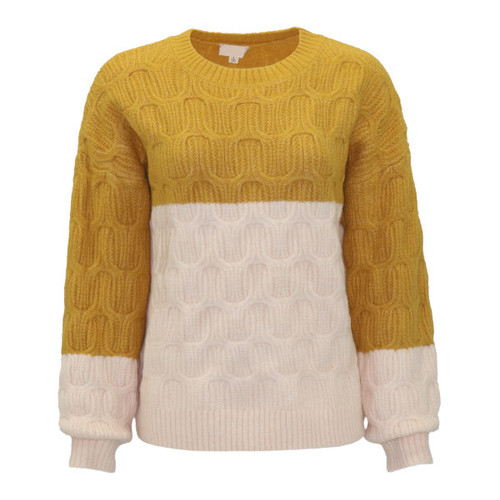 Beauty Beholds Color Block Sweater