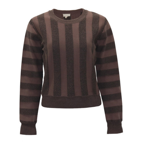 Vertical Striped Knit Top