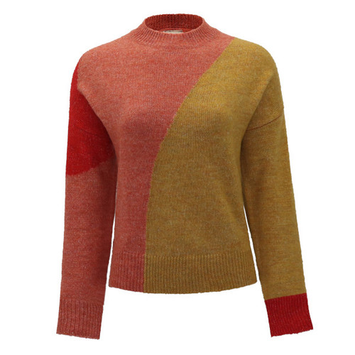 See The Beauty Color Block Sweater