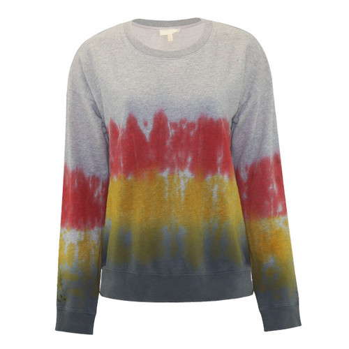 Make Life Simple Ombre Pullover Sweatshirt