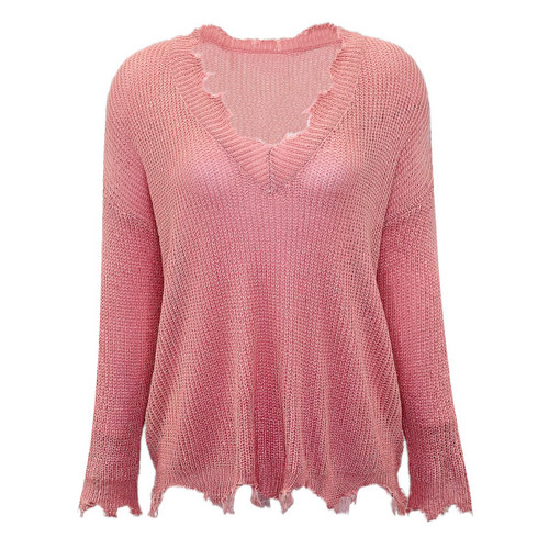 A Just Cause V-Neck Sweater - Pink