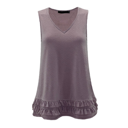 More To Love V-Neck Top - Lavender