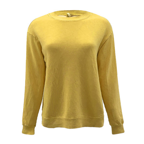 Lived In Look Garment Dyed Sweatshirt - Gold