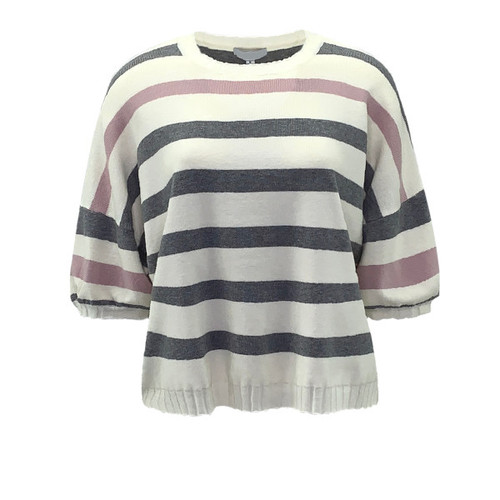 Next In Line Striped Sweater Top