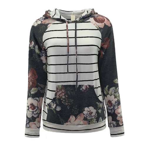 No Surprises Floral Hooded Top