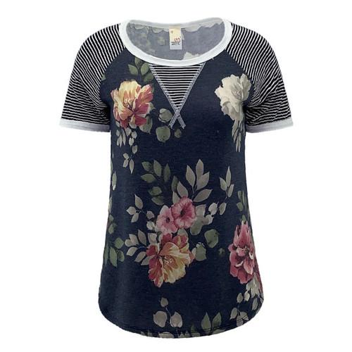 Junie Floral Raglan Sleeve Top