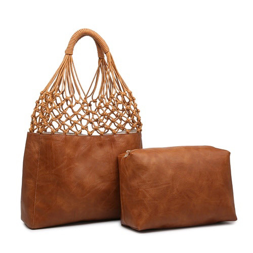 Athena 2-in-1 Tote - Brown