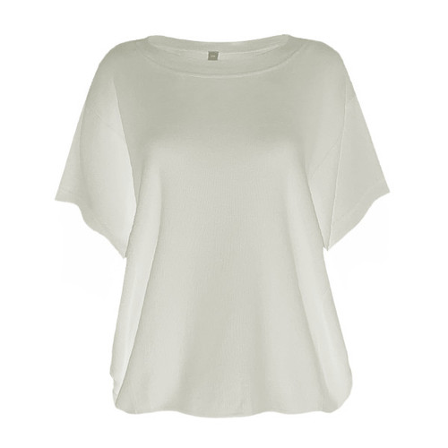 On The Horizon Short Sleeve Sweater - Ivory