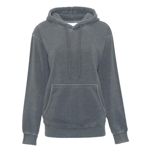 Burnout Boyfriend Hooded Pullover - Grey
