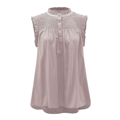 Pure Intuition Smocked Top - Blush