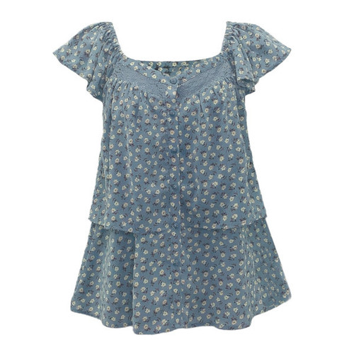 Spring Blooms Tiered Top