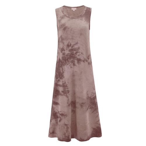 Everleigh Tie Dye Maxi Dress - Brown Mix