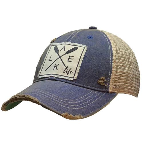 Lake Life Distressed Trucker Hat