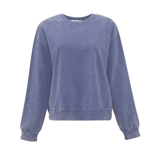 Crazy Chaos Acid Wash Sweatshirt - Indigo