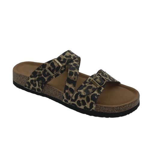 Leo In Leopard Strap Sandal