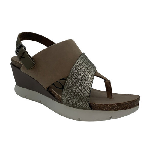 In Focus Leather Wedge Sandal by OTBT