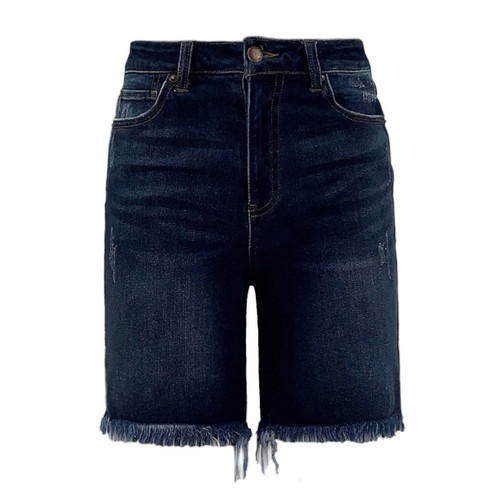 Toronto Frayed Hem Bermuda by Risen Jeans