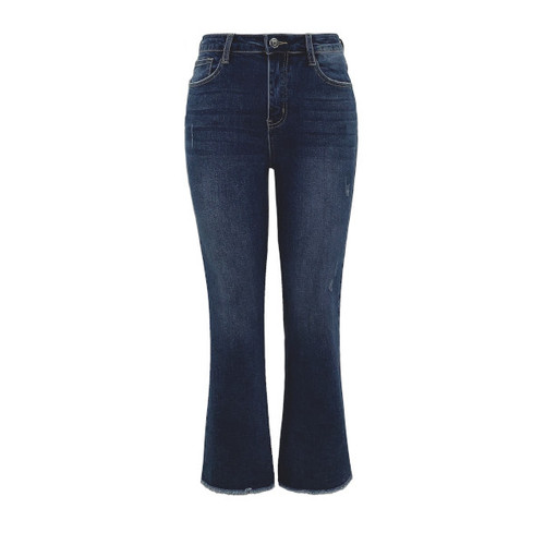 Nantucket High Rise Cropped Straight Jeans