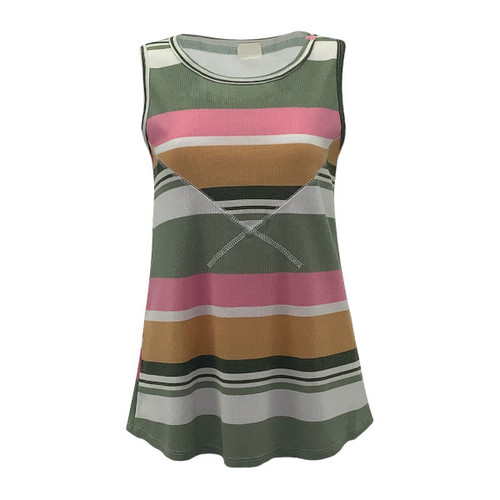 Get A Move On Striped Tank
