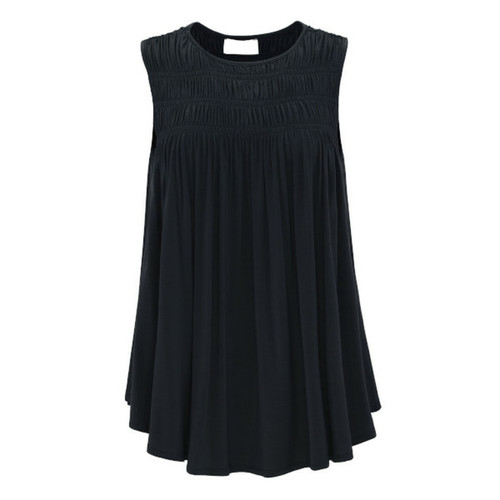 Love To Layer Ruched Top - Black