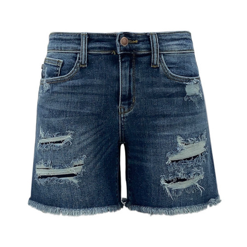 Laguna Patch Detail Boyfriend Shorts by Judy Blue
