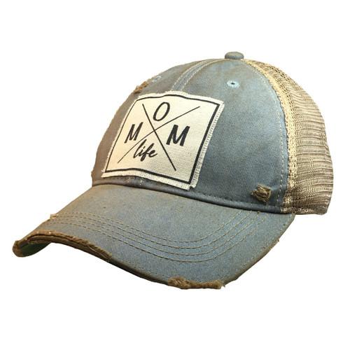Mom Life Distressed Trucker Hat