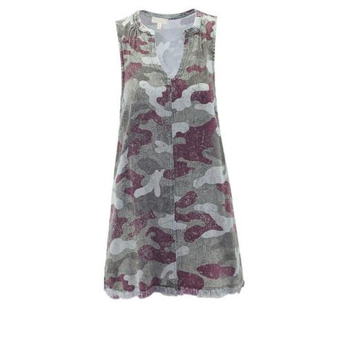 Barcelona Vintage Camo Sleeveless Dress