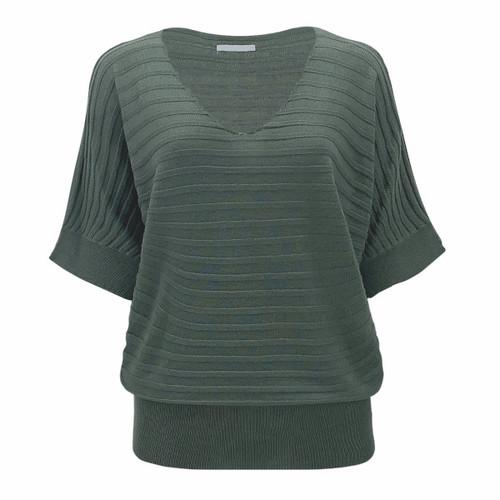 Artesia Kimono Sleeve Summer Sweater - Dark Sage