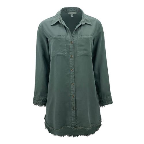 Washed Tencel Button Down Tunic/Shirt