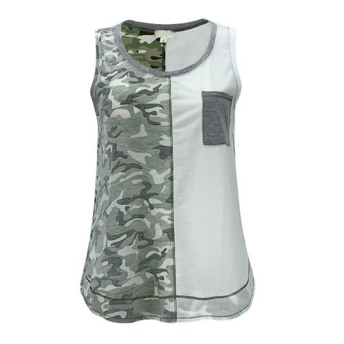 Flagstaff Color Block Tank - Camo